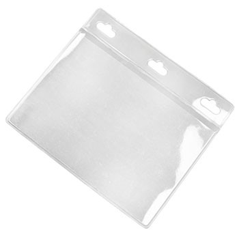 "3.5"" x 2"" Lanscape Clear PVC ID Card Holder"
