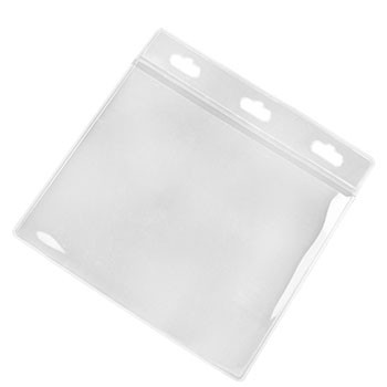 "4""x 3"" Landscape Clear PVC ID Card Holder"