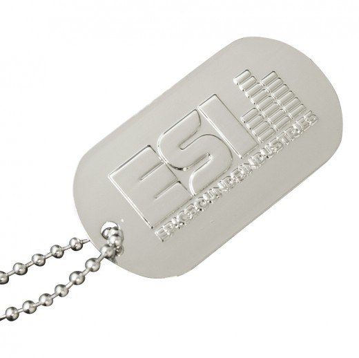 Logo Stamped Dog Tags