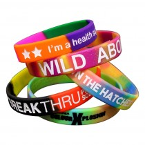 Multi Color Segment Wristbands