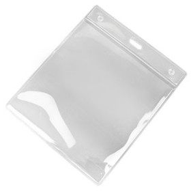 "4"" x 4"" Square Clear PVC ID Card Holder"