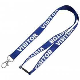 Pre-Printed Visitors Lanyards (15mm)
