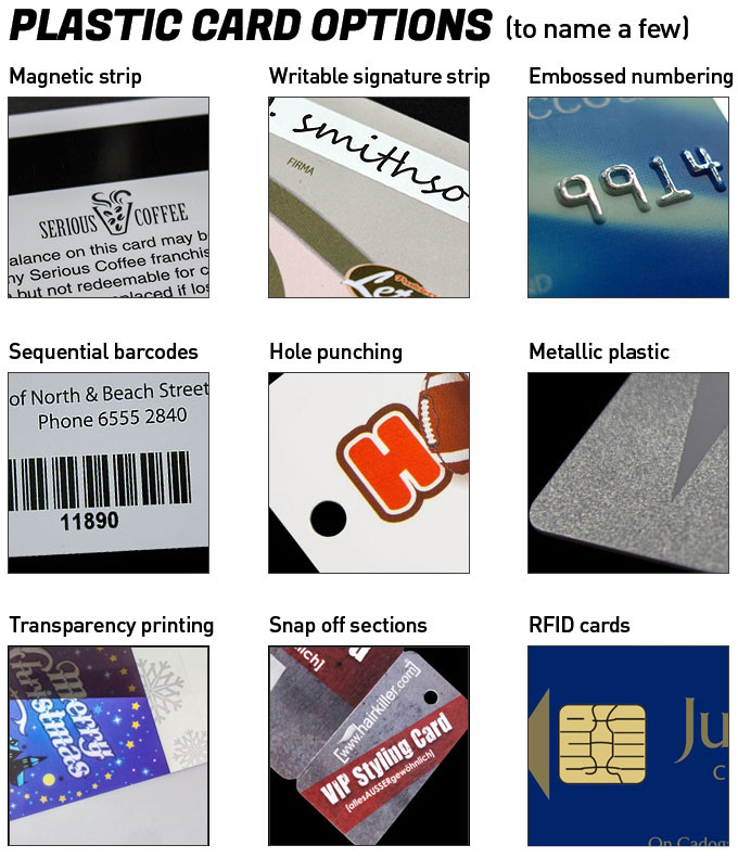 Plastic Card Options