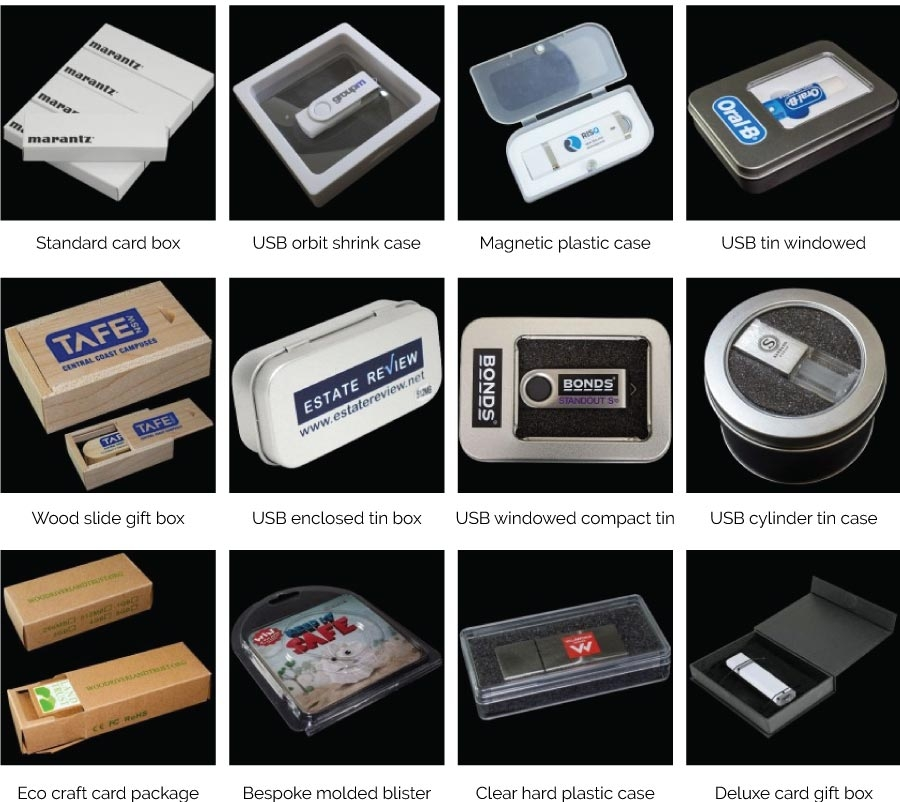 USB packaging options