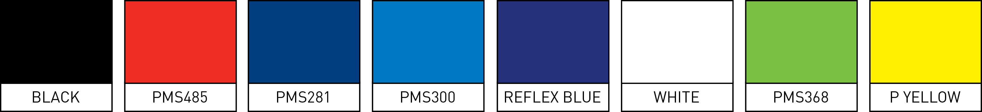 Nylon lanyard stock colors